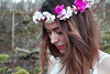 1 (myriam.lizarralde) Tags: pink flowers trees light woman bird girl angel forest butterfly book fly wings wolf young libelula bosque aralar