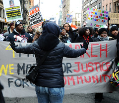 mlkdaydemo_jan19_8508 (Michael Fleshman) Tags: protest police nypd alsharpton statenisland racism civilrights martinlutherking policebrutality lynching naacp michaelbrown ihaveadream militarization chokehold newyorkpolicedepartment excessiveforce martinlutherkingday civilrightsmovement ericgarner racistpolice trayvonmartin gwencarr blacklivesmatter handsupdontshoot newcivilrightsmovement nicholasheyward dantepomar