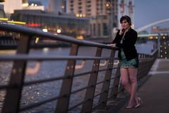 (Pranavian) Tags: portrait dark manchester evening model lowlight nikon dof waterfront dress 85mm salfordquays depthoffield cocktail portraiture railing nikkor salford d610 mediacity