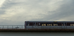 dusk train (Beau Finley) Tags: beaufinley washingtondc districtofcolumbia dc swdc lowerleft quadrant hainspoint eastpotomacpark wmata metro transit blueline bluehour popville