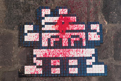 Clermont-Ferrand Centre (CLR_37) (Meteorry) Tags: street red france art wall rouge europe spaceinvader spaceinvaders clr tiles vandalism april invader paintball pixels rue mur michelin invasion auvergne clermont puydedme clermontferrand artderue mosaques 2016 carrelage carreaux meteorry arturbaine clr37 invaderwashere auvergnerhnealpes bibenvadermichelin