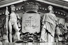 Lisboa | Lisbon | Lisbonne | Lisbona | Lissabon |  (Antnio Jos Rocha) Tags: cidade bw portugal naked arquitectura couple nu lisboa capital escultura fachada pedra edifcio monocromtico paosdoconcelho municpio