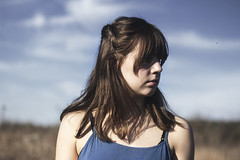 IMG_9571 (aishejonelle) Tags: blue trees portrait sky people green nature girl grass dress outdoor free preraphaelite