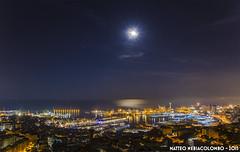Under the moonlight (Matteo Nebiacolombo) Tags: city moon port riviera liguria luna genoa genova porto zena moonlight notte citt notturno portodigenova superba nottediluna