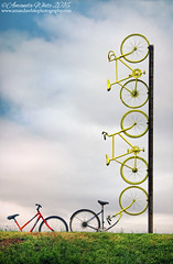 Riding High (sminky_pinky100 (In and Out)) Tags: portrait sculpture canada art outdoors novascotia uca bicycles unusual clever grandpre eyecatching omot ridinghigh cans2s