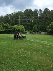 Anthony and the Tractor (JenGallardo) Tags: blue tractor green maryland anthony