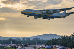 Mriya (Dream) (Arief Rasa) Tags: plane big airport aircraft air flight wing jet aeroplane cargo landing mammoth massive huge touchdown wingspan klia behemoth tupolev antonov kualalumpurinternationalairport turbofan airlifter an225 mriya aircargo klia2