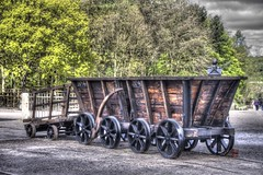 Rail Carts (Andrewbullie) Tags: car museum rail beamish cart coal