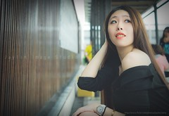 jaylin-0012 ( Jaylin) Tags: travel portrait stockings girl outside ol photo airport model women uniform open library longhair taiwan olympus lookout heels taipei sailor mirco omd pepole hight m43 mzd jelin linjay