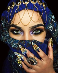 The Sea of Glass (eset is) Tags: africa blue photography bahrain desert uae hijab culture makeup jewelry morocco yemen arabian saudiarabia qatar