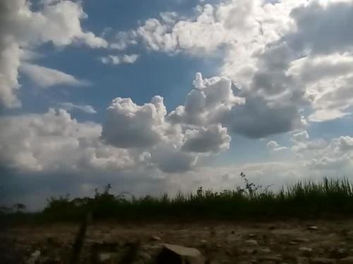 Cumulus clouds time-lapse