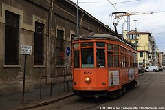 ATM 1982 (Davuz95) Tags: old milano tram atm arancio carrello messina deposit aranci ministeriale