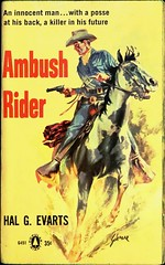 Popular Library G-451 (June, 1960). Reprint edition.  Cover Art by Schaare (lhboudreau) Tags: horses horse cowboys illustration book cowboy drawing coverart illustrations drawings books paperback story paperbackcovers western novel bookcover wildwest fargo bookcovers posse paperbacks ambush bookart 1960 sixgun sixguns schaare paperbackbook paperbackbooks vintagepaperback vintagepaperbacks paperbackcover paperbackart popularlibrary june1960 retrocovers evarts harryschaare vintagepaperbackcover retrocover reprintedition vintagepaperbackcovers halgevarts popularlibrarybooks vintagepaperbackart popularlibrarybook popularlibrarypaperback popularlibrarypaperbacks popularlibraryg451 ambushrider halevarts