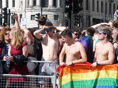 Pride London 2016 - #NOFILTER (Waterford_Man) Tags: nofilter pridelondon2016 lgbt lesbian gay bisexual trans people crowd pride london boys girls rainbow topless shirtless twinks flag