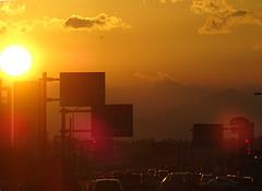 Sunset at Uchihara  (Shutter Chimp: Im back!) Tags: sunset mountain silhouette japan  mito  ibaraki     uchihara