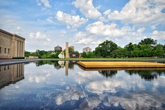 A CLOUDY DAY (Lisa Plymell) Tags: blue clouds reflections kansascity sigma1020 nikond5300