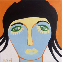 #1341 (sariart2) Tags: original abstract art girl painting israel acrylic raw ooak tel aviv sari figurative azaria noy