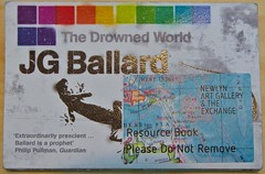 J G Ballard, The Drowned World, at The Exchange in Penzance (chrisjohnbeckett) Tags: ballard jgballard thedrownedworld book novel catastrophe fiction art gallery resource theexchange penzance chrisbeckett canonef24105mmf4lisusm cornwall philippullman gold prescient