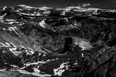 Horizon (Soler Photography) Tags: trees sky blackandwhite snow mountains nature landscape relaxing monochromatic serene isolated valleys beartooth