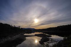 Sunset Halo (mrjensgreen) Tags: sunset sun reflection water halo vatten solnedgng