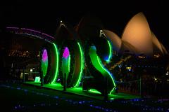 Vivid Sydney 2016, celebrating 200 year old Botanical Gardens (Theresa Hall (teniche)) Tags: bridge color colour night lights vivid circularquay 200 operahouse botanicalgardens sydneyoperahouse sydneyharbourbridge sydneyaustralia vividsydney vividsydney2016 vivid2016