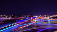 THE COLOURS OF VIVID SYDNEY 2016 (16th man) Tags: sydney circularquay cano nsw lighttrails sydneyharbour sydneyoperahouse sydneyharbourbridge millerspoint