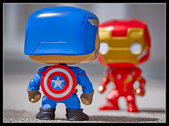 Stark Contrast (Puffer Photography) Tags: stilllife toys utah ironman pop actionfigures comicbooks movies minifigs marvel captainamerica funko bountiful 2016