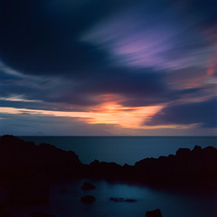 8 Minute Sunset (stephen cosh) Tags: longexposure sunset film landscape scotland analogue ayrshire planar80mm kodakektar100 hasselblad205tcc stephencosh