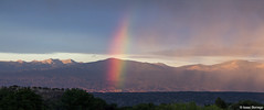 Evening Rainbow (isaac.borrego) Tags: mountains newmexico rain clouds rainbow peaks sangredecristomountains truchaspeak uploadedviaflickrqcom canonrebelt4i