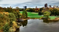 Turtle Pond (Majka Kmecova) Tags: world city nyc autumn usa lake ny newyork fall wonderful photography daylight photo centralpark manhattan unitedstatesofamerica ngc turtlepond smalllake skycloudssun unlimitedphotos motorolaxt1023