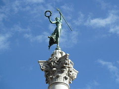 Reach for the sky ... (tend2it) Tags: blue sky monument statue square bay san francisco union area dewey