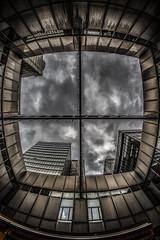 Cross (martinfuchsfotografie) Tags: building clouds canon dark high bonn cross wolken fisheye kreuz dunkel linien