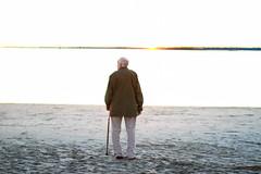 The Old Man and the Sea (Ann Elizabeth Moore) Tags: ocean beach canon grandfather charleston 28