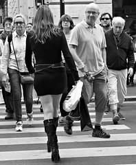 Aren't crossings great. (Baz 120) Tags: life street city portrait people urban blackandwhite bw italy rome roma monochrome mono italia faces candid strangers streetphotography streetportrait olympus monotone streetphoto unposed 45mm omd decisivemoment candidportrait streetphotographer m43 streetcandid mft streetphotograph primelens em5 candidstreet nightstreetphotography candidface grittystreetphotography