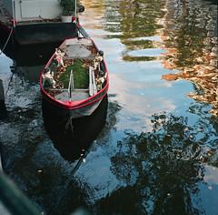 # 23 Amsterdam Angel Boat (LANCEPHOTO) Tags: 6x6 water amsterdam mediumformat boat fuji nederland thenetherlands fujicolor c41 bronicas2 thedarkroom film4life