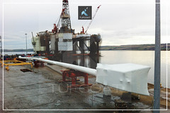 Tufcoat encapsulate 120 metre long caisson for Isleburn11