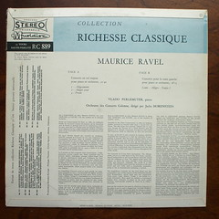 Backside Ravel - Piano Concerto Sol majeur, Concerto for the left hand - Vlado Perlemuter Piano, Orch. de Concerts Colonne, Jascha Horenstein, Musidisc RC 889, Musidisc Cum Laude serie (Piano Piano!) Tags: artwork album vinyl lp record classical disc platte sleeve hoes gramophone 12inch vynil classique klassiek plaat hulle grammofoon langspielplatte