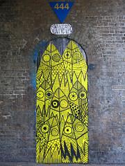 616 (surreyblonde) Tags: uk urban streetart london art leaves yellow canon graffiti spray doorway walls cans leafs 616 g15 sixonesix