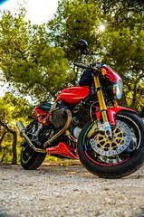 Moto Guzzi 1200 Sport (kutruvis nick) Tags: park trees sport club greek sand nikon wheels engine hellas machine ground greece machinery motorcycle brakes 1200 nik motoguzzi motorbikes lavrio attiki d5100 lavreotiki kamariza kutruvis