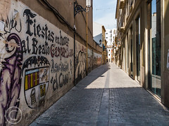 Valencia 2014 (11) 707 (Mark Schofield @ JB Schofield) Tags: old city streets valencia museum graffiti spain streetlife narrow torres serranos cityofartsandsciences ciutatdelesartesidelesciencies museodelasciencies