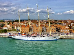 Star Clipper in Venice (Cycling man) Tags: venice sea water port dock ship yacht