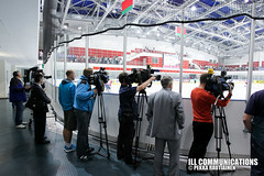 Press with the president (Pekka Rautiainen) Tags: icehockey belarus jkiekko minsk 2014 iihf worldchampionships mmkisat lukashenko gazprom presidentti lukashenka valkovenj wm2014 mm2014 iihfworlds aleksandrlukahenko aljaksandrlukahenka
