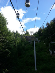 Crossing gondolas
