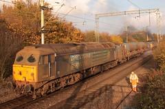 Trackworker and 57008 on 3U18 Railhead Treatment Train (RHTT) (kitmasterbloke) Tags: electric witham locomotives greateastern class90 geml class47 class57autumn