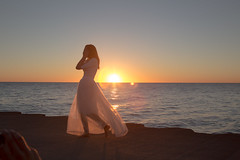 Good morning, sunshine (ditakespictures) Tags: morning chicago beautiful sunrise dress lakemichigan