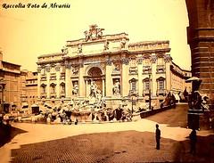 1870 2009 Fontana di Trevi a, (Roma ieri, Roma oggi: Raccolta Foto de Alvariis) Tags: italy rome roma fontanaditrevi 1870 piazzaditrevi rionetrevi raccoltafotodealvariis fotoiccdgfn