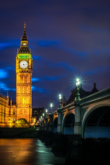 Queen Big Ben or the Elizabeth Tower  and Westminster Bridge - Londonnights (BC Bron Photo) Tags: longexposure nightphotography red london clock westminster thames nikon bigben nightscene thamesriver westminsterbridge londonlife d600 londonnights bigbentower nikonphotography queenelizabethtower