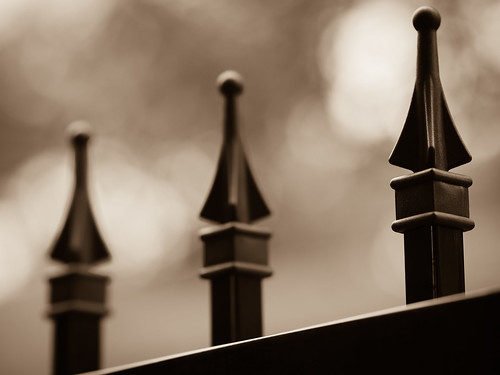 sepia fence chess pawn brandonprice