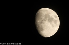 December Waxing Moon (Explored) (Sandy Sharples) Tags: uk england sky moon night manchester december waxing