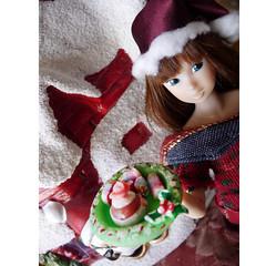 My christmas, my passion (Small Didi) Tags: christmas food cakes scale cake miniature doll dolls barbie mini barbies momoko baebie christmas2014